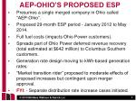 aep ohio s proposed esp