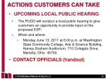 upcoming local public hearing