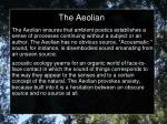 the aeolian