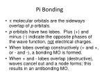 pi bonding