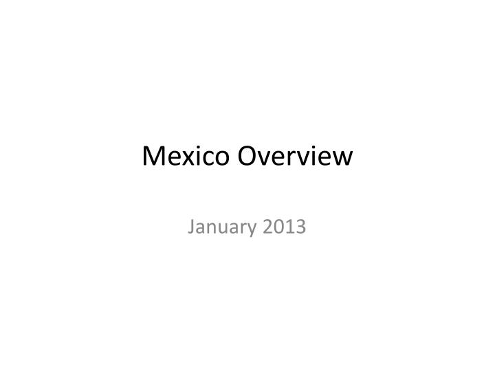 mexico overview n.
