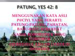 patung yes 42 8