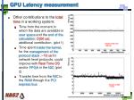 gpu latency measurement