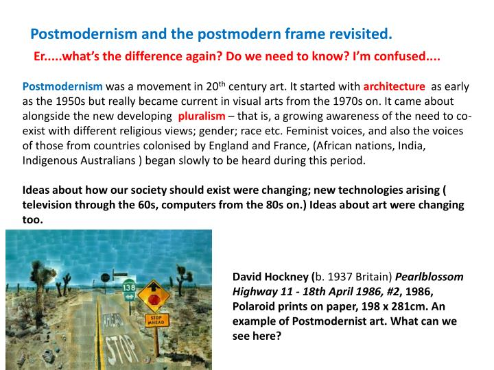 PPT - Postmodernism and the postmodern frame revisited. PowerPoint ... 1cd5f29d10552