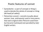 poetic features of sonnet1