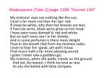 shakespeare take 2 page 1184 sonnet 130