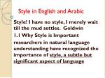 style in english and arabic1