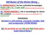 attributes of the divine being