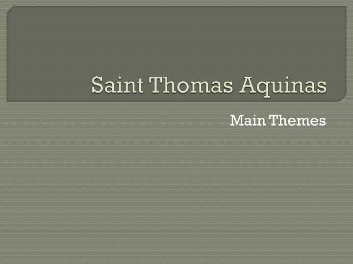 saint thomas aquinas n.