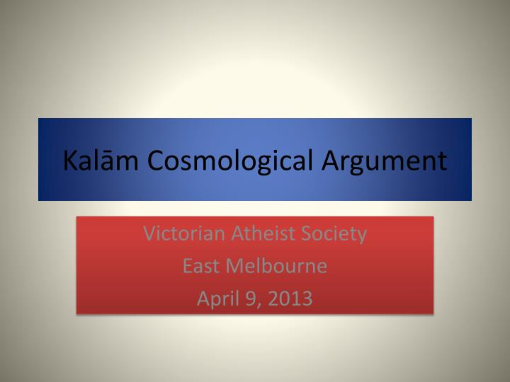 kal m cosmological argument n.
