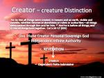 creator creature distinction