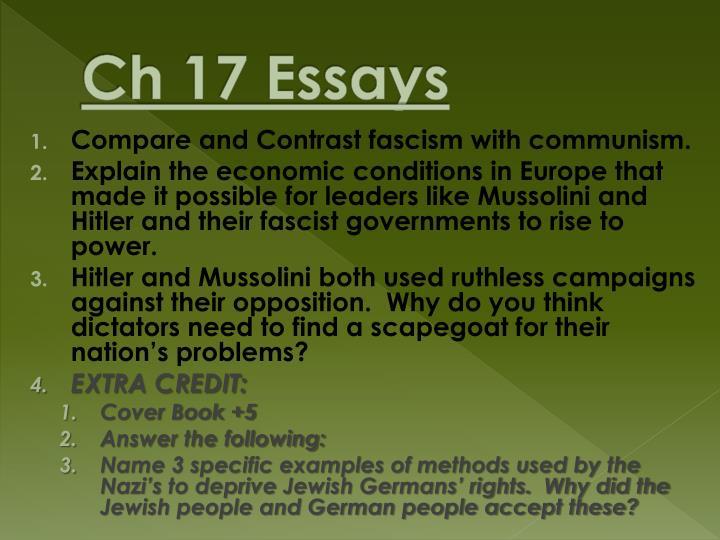 Ch 17 Essays