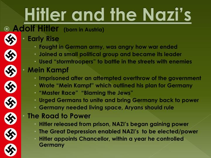 Hitler and the Nazi's