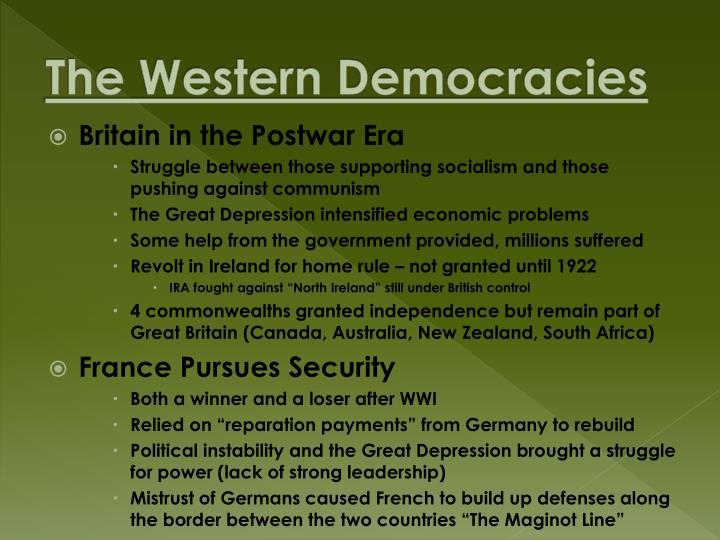 The Western Democracies
