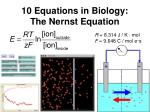 10 equations in biology the nernst equation