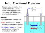 intro the nernst equation
