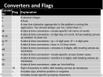converters and flags