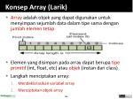 konsep array larik