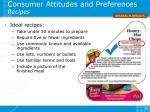consumer attitudes and preferences recipes
