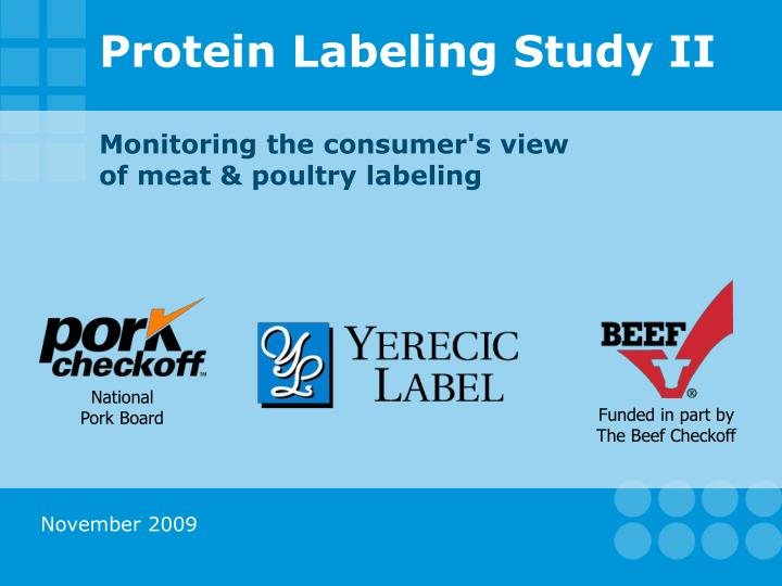 protein labeling study ii n.