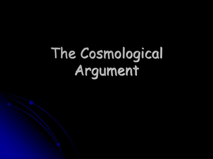the cosmological argument n.