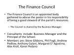 the finance council