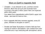 more on earth s magnetic field