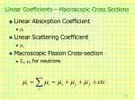 linear coefficients macroscopic cross sections