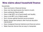 nine claims about household finance