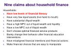 nine claims about household finance1