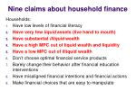 nine claims about household finance2