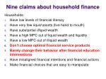nine claims about household finance3