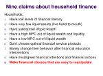 nine claims about household finance5