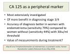 ca 125 as a peripheral marker