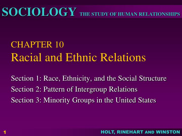chapter 10 racial and ethnic relations n.