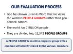 our evaluation process