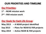 our priorities and timeline