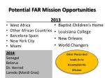 potential far mission opportunities