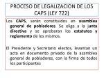 proceso de legalizacion de los caps ley 722