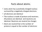 facts about atoms