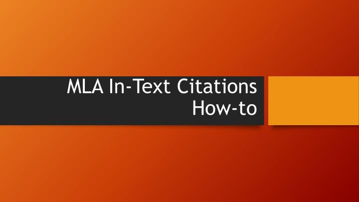mla in text citations how to n.