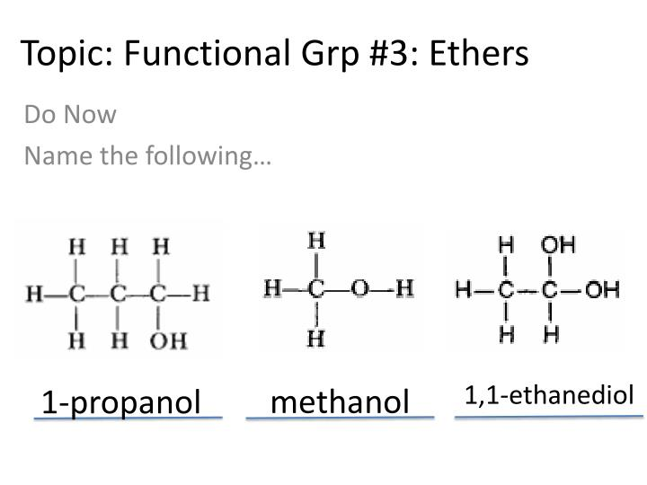 topic functional grp 3 ethers n.