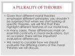 a plurality of theories
