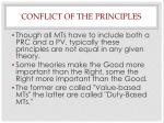conflict of the principles