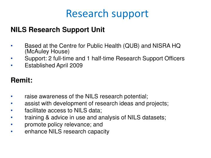 NILS Research Support Unit