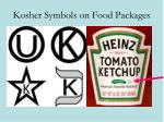 kosher symbols on food packages