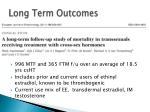 long term outcomes1