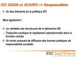 iso 26000 et achats responsables