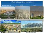 major cities and my home town