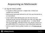 anpassning av malinowski5